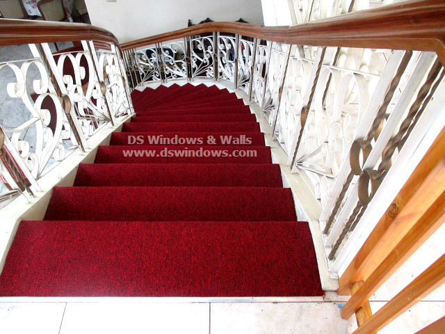 Glamorous Makeover For Staircase Using Red Carpet - Quezon City, Philippines