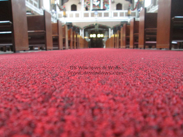 Red Broadloom Carpet For The Church Aisle: Ermita Manila Philippines