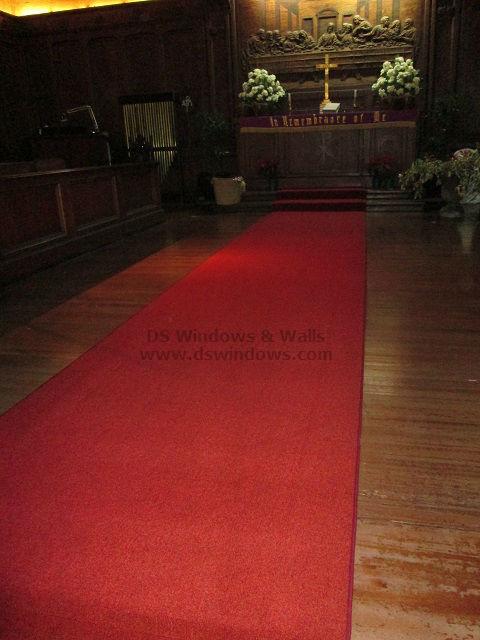 Red Broadloom installed at Ermita Manila, Philippines