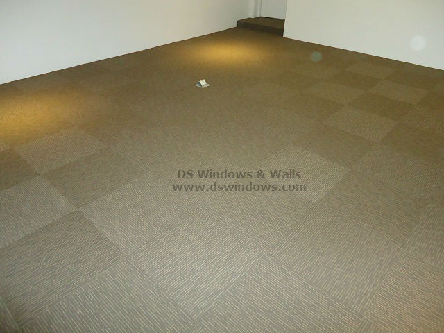 Textured Loop Pile Carpet Tiles Installed For a New Executive Room - Makati City