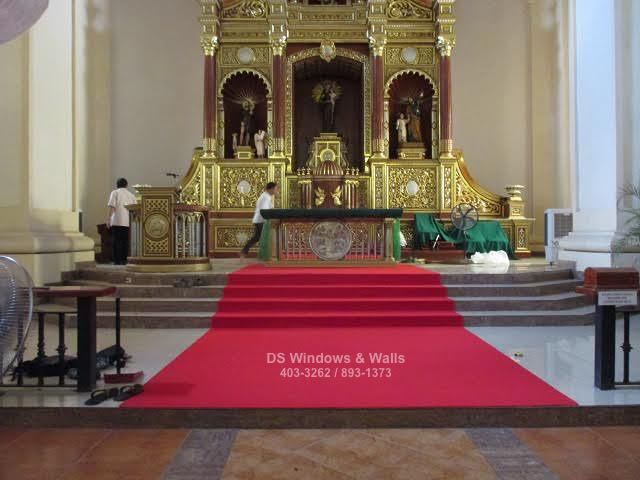 New carpet for an altar shrine