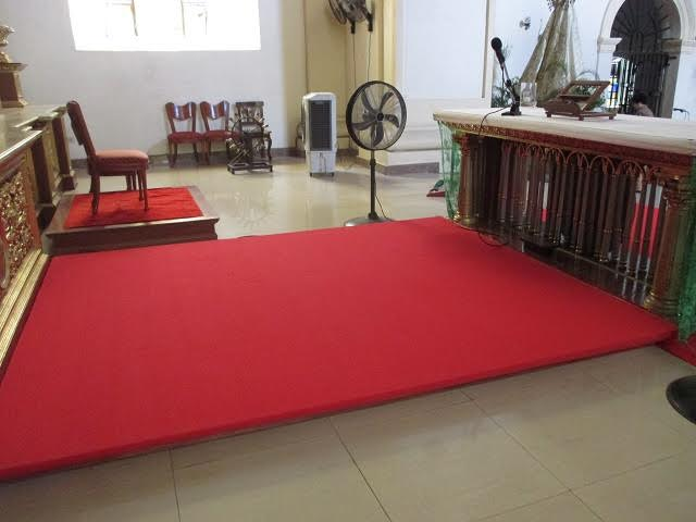 New carpet replacement for altar shrine