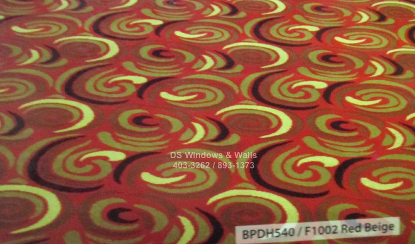 Spiral pattern F1002 Red Beige Pattern
