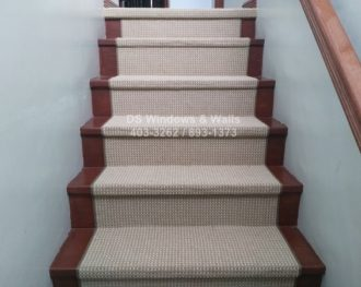 Carpet Runners Customized for Stairs : New Tango Beige Loop Pile