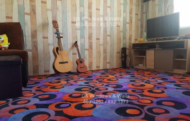 Kids Bedroom Carpet and Wallpaper Interior Design : Taguig Installation