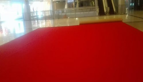Mall Red Carpet Installation for Events and Exhibits at Festival Mall